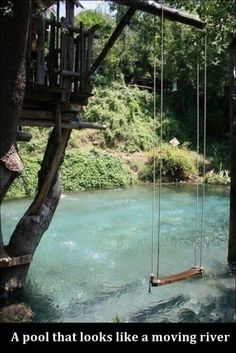 Cool Home Ideas / pool that looks like a moving river