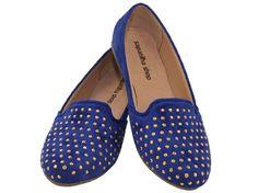 Slipper Azul Tachas (Ref. 2577), por apenas R$69.90 + frete grátis! Para verificar a numeração e efetuar a compra é só entrar em contato pelo e-mail: vendas@sapatilhashop.com.br