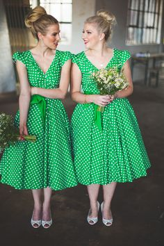 Green Themed Wedding At Camp And Furnace In Liverpool With Bride In Short 50s Style Gown By Heavenly Vintage Brides And Rachel Simpson Eva Shoes #rockmywedding www.rockmywedding.co.uk