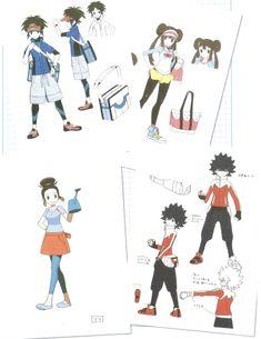 Pokemon black and white 2 design - Poke Ball Pokemon Mew, Black Pokemon, Pokemon Fan Art, Cute Pokemon, Pokemon Stuff, Character Model Sheet, Character Concept, Concept Art, Pokemon Adventures Manga