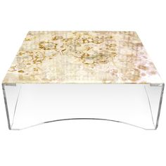 AMAZING!  Lucite and Onyx Top Square Coffee Table Mid Century Modern