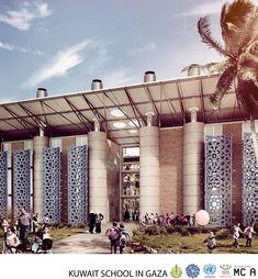 Kuwait School in Gaza, Gaza, 2014 - MCA - Mario Cucinella Architects