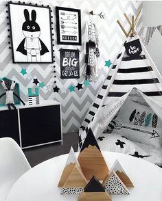 regram @decoredecor Adorei a ideia pras noites de pijamaaaa hahahaha Black, White and Chevron #olioliteam #inspiration Via: Pinterest ARCHITECTURE | INTERIORS | KIDS