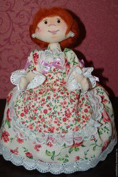 Купить кукла-грелка на чайник Арина - комбинированный, авторская ручная работа, авторская кукла