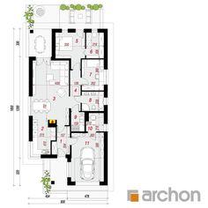 Dom w liredach Floor Plans, Diagram, House Design, Architecture, House 2, Little Cottages, Arquitetura, Architecture Design, Architecture Design