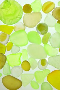 Citrine and green sea glass