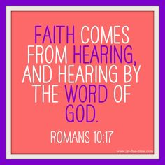 Read the Word and you will start operating in the faith realm!