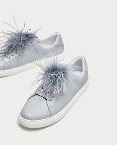 Image 5 of SNEAKERS WITH FEATHERS from Zara