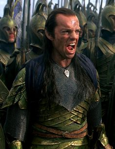 Elrond in Elven Armor ~ Younf Elrond readies his troops to bring hurt down upon Sauron