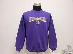 Vtg 90s Logo Athletic Minnesota Vikings Crewneck Sweatshirt sz L Large NFL SEWN Vintage by TCPKickz on Etsy