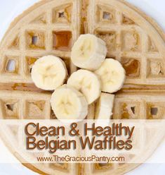 Clean Eating Belgian Waffles  (Makes 6 waffles)    Ingredients  1 cup whole wheat pastry flour  2 tsp. baking powder  1 tsp. vanilla extract  1 tsp. almond extract  3 egg whites  1-1/2 cups unsweetened almond milk  1 tsp. active dry yeast