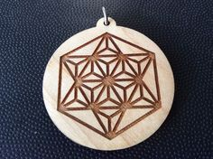 "Merkaba Star Tetrahedron 1.75"" Pendant Necklace Maple Wood Mystical #Best Gift    eBay"
