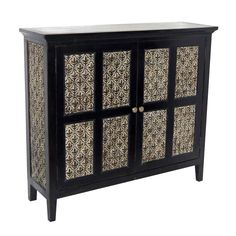 Woven Front Cabinet with Two Drawers - 32 in.