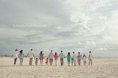 large families, beach (C) Hamilton Creek Photography Large Family Poses, Large Families, Family Posing, Family Photo Colors, Family Photo Outfits, Beach Portraits, Family Portraits, Fall Family Photos, Family Pictures
