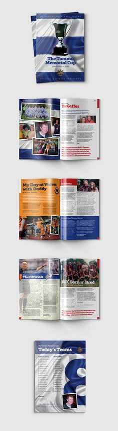 Charity match programme design for British United Football Club in Brussels - by James Kontargyris