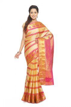 Kanjeevaram Saree - Types of Sarees - Indian Ethnic Fashion From Their Different Regions