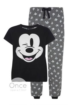PRIMARK-Disney-MICKEY-MOUSE-Pyjamas-Lounge-Pants-T-Shirt-Gift-Set