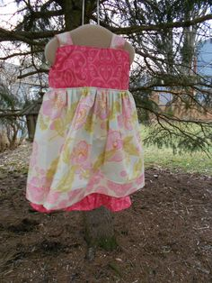 Ruffle Pants and Reverse Knot top dress size 4T in by RugratDesign, $50.00