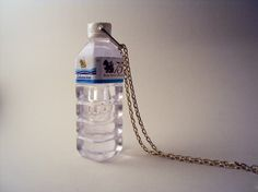 Crazy Stuff Plastic Water Bottle Necklace by monocerus on Etsy, $14.00