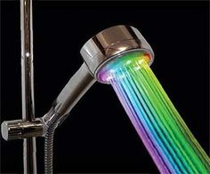 Showers just got a whole lot cooler with this color changing shower head