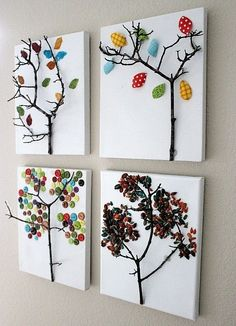 Tree branches for trees! Cool i want to try mixing it with paint!