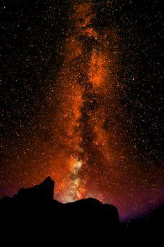 Milky Way outside Goblin Valley