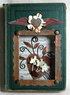 Altered Book - Aged Metals