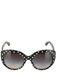 ROUNDED CAT-EYE POLKA DOT SUNGLASSES Dolce & Gabbana