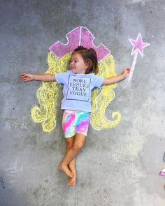 Chalk World - The Johnsons' Journey - Jt's Summer - Chalk Art Sidewalk Chalk Paint, Sidewalk Art, Chalk Photography, Chalk Pictures, 3d Chalk Art, Chalk Drawings, 3d Drawings, Outdoor Crafts, Graffiti Lettering