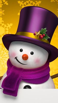 This wallpaper is shared to you via ZEDGE Snowman Wallpaper, Merry Christmas Wallpaper, Merry Christmas Images, Christmas Rock, Holiday Wallpaper, Purple Christmas, Christmas Scenes, Christmas Clipart, Merry Christmas And Happy New Year