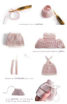 """Peluche de crochet """"Conejita de orejas largas"""" – AMIGURUMI"""