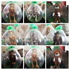 Jungle theme stuffed balloons