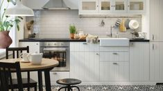 The HITTARP series has a soft, off-white colour and vertical groove pattern that creates a sense of traditional craftsmanship. It would be the ideal style if you are looking for a rustic kitchen with warm, country charm. Ikea Kitchen Cabinets, Kitchen Doors, Cabin Kitchens, Cool Kitchens, Off White Kitchens, Best Kitchen Designs, Rustic Kitchen, Kitchen Country, Kitchen Styling