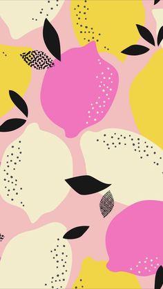 Pink and yellow graphic lemon background illustration Rosa und gelbe grafische Zitronenhintergrundillustration Backgrounds Wallpapers, Cute Backgrounds, Cute Wallpapers, Trendy Wallpaper, Fruit Illustration, Pattern Illustration, Graphic Illustration, Textures Patterns, Print Patterns