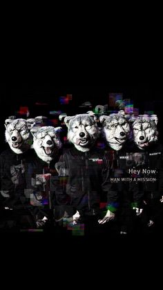 MAN WITH A MISSION/マンウィズ[05]iPhone壁紙 iPhone 7/7 PLUS/6/6PLUS/6S/ 6S PLUS/SE Wallpaper Background