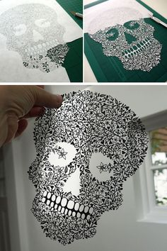 Artist Suzy Taylor delicately hand-cuts designs from a single sheet of paper. #cutpaper #art #craft