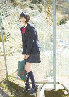 HIRATE_yurina 平手友梨奈 JK 制服 ブレザー School Uniform Fashion, School Uniform Girls, Girls Uniforms, Girls Knee High Socks, Japanese Uniform, School Girl Japan, Female Reference, Girl Short Hair, Japanese Girl