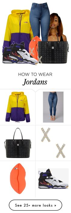"""""""Threepeat 8s"""" by zoelh178 on Polyvore featuring Columbia, STELLA McCARTNEY, MCM and NIKE"""