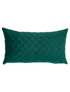 Your Home And Garden Amara Diamond Quilted Cushion, Emerald - 47504
