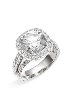 Jack Kelége 'Romance' Diamond Semi Mount Ring available at #Nordstrom (add 1.5 carat diamond)