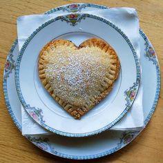 heart shaped cherry pie !