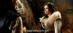"""""""My happy ending isn't a man."""" """"My happy ending is finally feeling at home in the world. Robin is just a part of that world."""""""