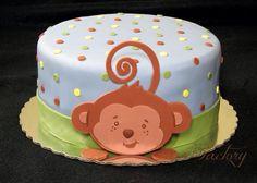 Monkey safari cake