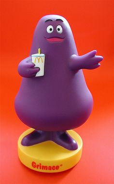 Grimace freaked me the hell out! I remember screaming my head off at McDonalds at the age of Childhood Memories 90s, Purple Rooms, All Things Purple, The Good Old Days, Brighten Your Day, Shades Of Purple, Rubber Duck, Mcdonalds, Favorite Color