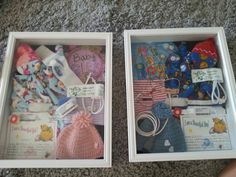 NICU shadow boxes...a reminder of the twins first few weeks! And all of the amazing people we met!