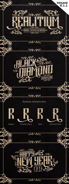 Realitium Font - Gothic Decorative | Download: http://graphicriver.net/item/realitium-font/15167533?ref=sinzo