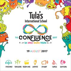 Confluence 2017 is the Annual Fest of Tula's International School. Through this fest, the school offers a platform for students to improve their hidden talent. Boarding Schools In India, India School, Cultural Events, International School, Fun Facts, Competition, Students, Dehradun, Culture