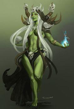 Female Orc, Charlotte Creber on ArtStation at https://www.artstation.com/artwork/rXlxG