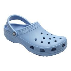 Shop for Crocs Classic Clog Chambray Blue. Get free delivery On EVERYTHING* Overstock - Your Online Shoes Outlet Store! Crocs Clogs, Crocs Men, Clogs Shoes, Toe Shoes, Crocs Classic, Thing 1, Shoe Size Chart, Strap Heels, Shoes