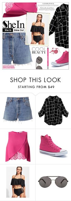 """""""Bikini set"""" by peta-5 ❤ liked on Polyvore featuring RE/DONE, Miss Selfridge, Converse, Seafolly, Vanity Fair and Urban Decay"""